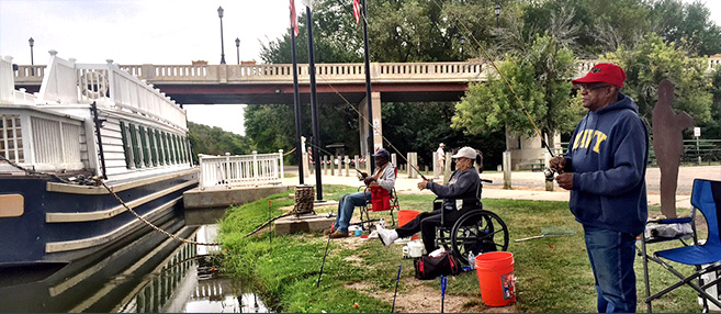 Fishing at Lock 14