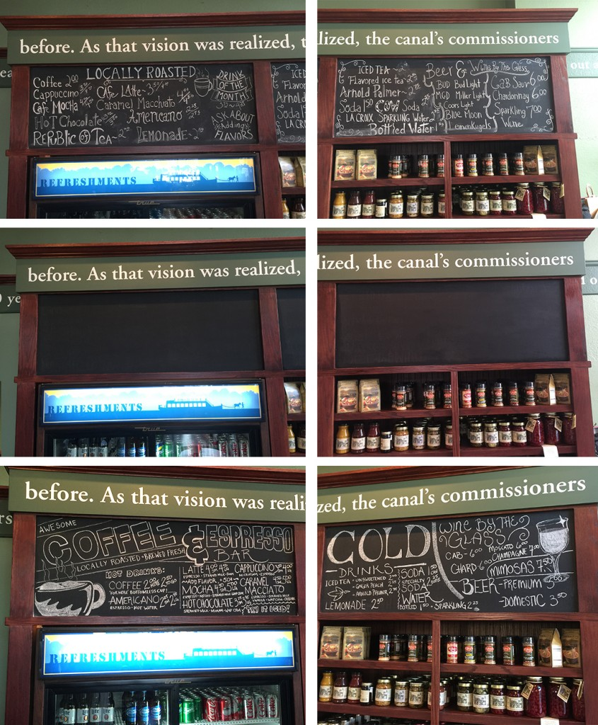 before and after chalkboards
